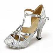 Zapatos de baile (Plata/Oro) - Danza latina/Moderno - No Personalizable - Tacón Cubano
