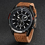 V6 Hombre Reloj de Pulsera Cuarzo Cuarzo Japonés Piel Banda Negro Marrón Caqui Blanco Negro Marrón Caqui