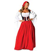 Disfraces de Cosplay / Ropa de Fiesta Oktoberfest/Cerveza Festival/Celebración Traje de Halloween Rojo Retazos Vestido / TocadosHalloween