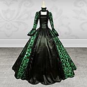 Badpak/Jurken Gothic Steampunk® / Geïnspireerd door vintage Cosplay Lolita Jurken Groen Vintage Lange Mouw Lange Lengte Kleding Voor Dames