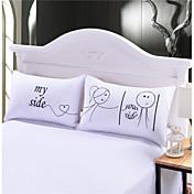 Almohada de cama , Blanco 80% Plumón de oca/ 20% Pluma de oca