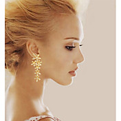 女性 ドロップイヤリング 誕生石です. コスチュームジュエリー 銀メッキ ゴールドメッキ 貝殻 リーフ ジュエリー 用途 結婚式 パーティー 日常 カジュアル