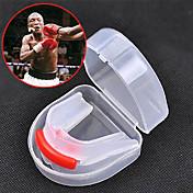 Protector Bucal Taekwondo Sanda Muay Thai Boxeo Kárate Portátil Múltiples Funciones Doble Cara Equipo de protecciónGel de Sílice Material
