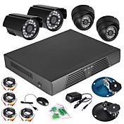 4chのCCTV DVRフルD1モーション検出600 TVL屋外屋内ナイトビジョンカメラシステム