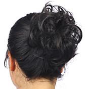 ホットスタイリッシュなポニーテールの女性が髪饅頭かつら人工毛エクステンションシュシュ上でのクリップ