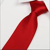 adulto empate sarga flecha jacquard corbata de seda de poliéster rojo