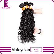 Tejidos Humanos Cabello Cabello Malayo Rizado 3 Piezas los tejidos de pelo