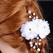 成人用 サテン 人造真珠 かぶと-結婚式 パーティー コサージュ 1個