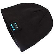 cálido gorro bluetooth inalámbrico cap inteligente micrófono altavoz auricular auriculares para el teléfono móvil sumsung iphone