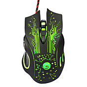 profesionální vysoce kvalitní pevné herní myš se 7 tlačítky vedl Optická USB kabelové připojení počítačové myši myši kabel myši