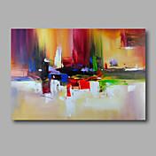 Pintada a mano Abstracto Horizontal,Modern Un Panel Pintura al óleo pintada a colgar For Decoración hogareña