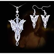 Šperky Náhrdelníky / Küpeler Svatební / Párty / Denní / Ležérní Slitina / Akrylát 1Nastavte Dámské Stříbrná / Bílá Svatební dary