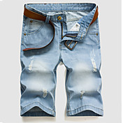 Pánské Větší velikosti Kalhoty,Sportovní Jednobarevné Bavlna