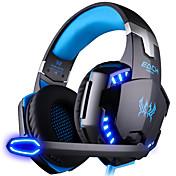 KOTION EACH G2000 ヘッドホン(ヘッドバンド型)ForコンピュータWithマイク付き / DJ / ボリュームコントロール / ゲーム / スポーツ / ノイズキャンセ / Hi-Fi / 監視