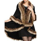 Dámské Jednobarevné Party/Koktejl Vintage Plášť / Capes-Umělá kožešina Zima