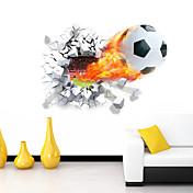 カートゥン ロマンティック スポーツ 3D ウォールステッカー 3D ウォールステッカー 飾りウォールステッカー,ビニール 材料 取り外し可 ホームデコレーション ウォールステッカー・壁用シール