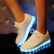 Syntetika-Pohodlné Light Up boty-Dámské-Černá Bílá-Outdoor Běžné Atletika Party-Plochá podrážka