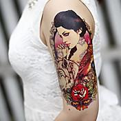 store arm blomster falske overførsel midlertidige tatoveringer krop sexet klistermærker vandtæt