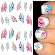 2 listy módní nehtové obtisky vody přenosu nálepky nail art tipy peří zábaly kutilství dekorace Nail Art nástroje