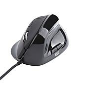 6 llaves USB con cable ratón vertical ergonómico con dpi llevado indicador y soporte para el dedo