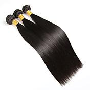人間の髪編む ブラジリアンヘア ストレート 6ヶ月 3個 ヘア織り