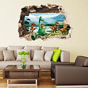 Zvířata / Retro / Fantazie / 3D Samolepky na zeď 3D samolepky na zeď,pvc 50*70cm