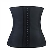 Para Mujer Corsé Inferior Ropa de dormir Un Color Poliéster / Algodón / Nailon / Modal Negro / Beige