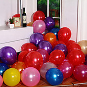 latex helium inflable fortykkelse perle bryllup eller fødselsdag ballon, 100pcs / lot