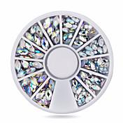 Encantador-Dedo-Joyas de Uñas-Acrílico-1wheel oval ab nail decorations-6cm wheel- (cm)