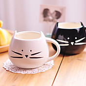 1pc 300ml gato blanco y negro de cerámica de la personalidad linda de la taza sola taza rurales regalos taza amorosas de las sensaciones