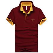 男性用 半袖 ポロシャツ,コットン / モーダル カジュアル / オフィス / フォーマル / スポーツ プレイン