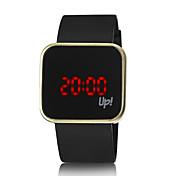 Pánské Dámské Unisex Módní hodinky Hodinky na běžné nošení Digitální hodinky Digitální LED Silikon Kapela Černá Černá Stříbrná Zlatá