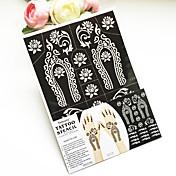 Indie PVC henna tetování nálepka tisk airbrush tetování šablony