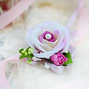 ウェディングブーケ ハンドタイド バラ リストブーケ 結婚式 パーティー ・夜 コットン シルク