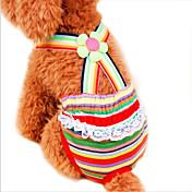 Gatos / Perros Pantalones Rojo Ropa para Perro Primavera/Otoño Rayas Boda / Cosplay
