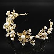 Dame Blonde Tyl Legering Medaljon-Bryllup Speciel Lejlighed Pandebånd Blomster Krans Pandekæde 1 Stykke