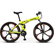 マウンテンバイク / 折りたたみ自転車 サイクリング 21スピード 26 inch/700CC ユニセックス 大人 / 男性 / ユニセックスキッズ SHIMANO EF-51-8 ダブルディスクブレーキ サスペンションフォーク リアサスペンション 普通
