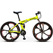 Bicicleta de Montaña Bicicletas plegables Ciclismo 21 Velocidad 26 pulgadas/700CC Doble Disco de Freno Horquilla de suspenciónSuspensión