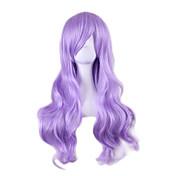 Dolly styl levné cosplay paruky erotické syntetický Perruque lolita anime paruka světle fialové vlasy paruky 70cm dlouhými vlnitými peruk