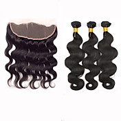 Trama del pelo con cierre Cabello Peruano Ondulado Grande 12 meses 4 Piezas los tejidos de pelo