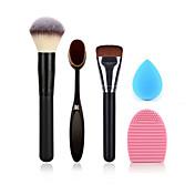 パウダーブラシメイクアップ歯ブラシファンデーションブラシ洗浄ブラシ卵と小さなサイズの化粧スポンジ