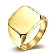Klasično prstenje Titanium Steel Pozlaćeni Moda Simple Style Pink Zlatan Jewelry Vjenčanje Party Dnevno Kauzalni Božićni pokloni 1pc
