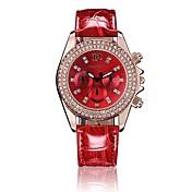 Mujer Reloj de Vestir Cuarzo Reloj Casual PU Banda Negro Blanco Rojo Verde Rosa Blanco Negro Rojo Rosa