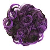 wig fialový 5 cm vysoké teploty drátu barva vlasů kroužek barvu 2 / 33-3533
