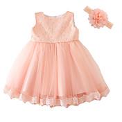 赤ちゃん パーティー フラワー ポリエステル,ドレス オールシーズン ピンク