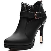 Mujer-Tacón Stiletto-Tacones-Tacones-Casual / Fiesta y Noche-Microfibra-Negro