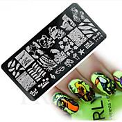 Stamping Nail Art Plate Stampere škrabka 12*6