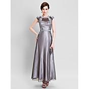 フォーマルなイブニングドレス - ビンテージ感のあるシース/コラムの宝石の床の長さのサテンとレース