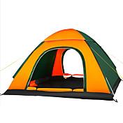 3-4 osoby Stříška Trojitý automatický stan jeden pokoj Camping Tent 1500-2000 mmOdolný proti vlhkosti Dobře větraný Voděodolný Odolný