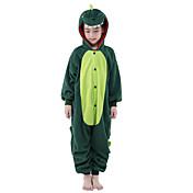 Kigurumi Pyžama New Cosplay® / Dinosaurus Leotard/Kostýmový overal Festival/Svátek Animal Sleepwear Halloween Zelená Patchworkpolar